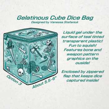 DnD Gelatinous Cube Dice Bag